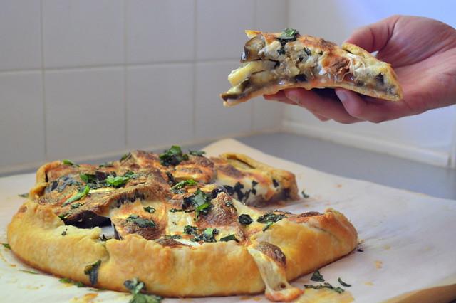 Eggplant pizza galette