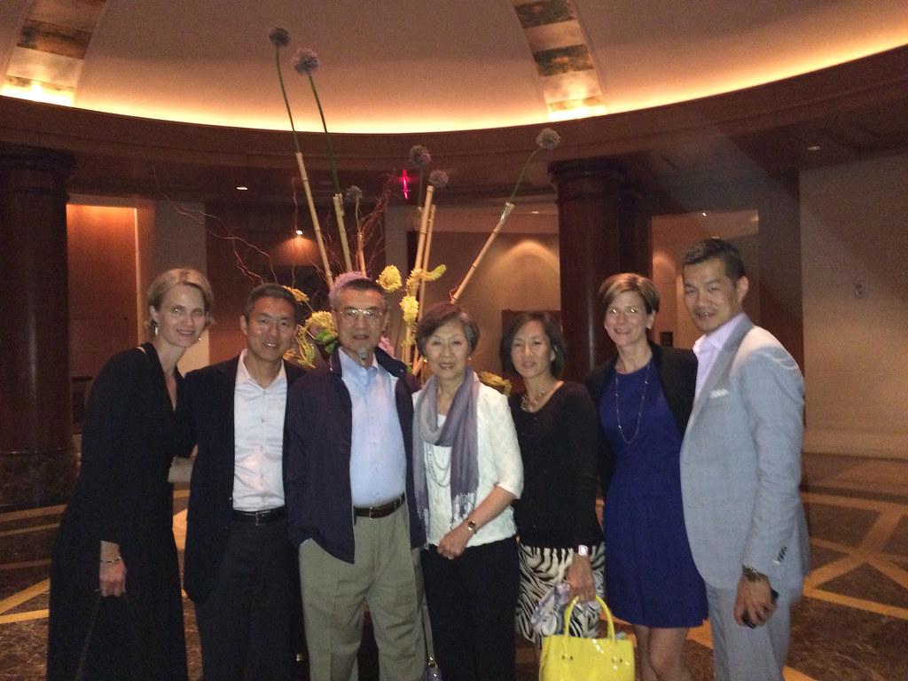 My family at Mandarin Hotel after dining at CityZen