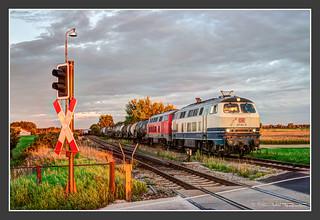 217 014 und 013 in Pirach, 04. Sept 2006