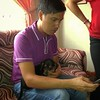 Bro. George with cute puppy