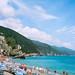 Umbrellas on the beach, Monterossa, Cinque Terre
