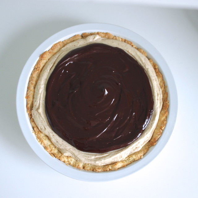 Honey Almond Butter Tart with Chocolate Ganache