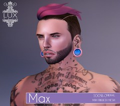 ::Lux Hair:: Max {Colour} Now Available!