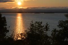 Sun setting over Loch Leven