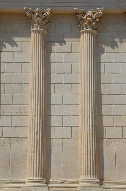 The Maison Carrée, 1st century BCE Corinthian temple commissioned by Marcus Agrippa, Nemausus (Nîmes, France)
