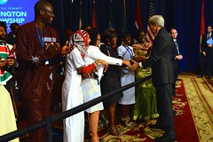 U.S. Secretary of State John Kerry greets participants of the Mandela Washington Fellowship for Young African Leaders at the Presidential Summit in Washington, D.C., on July 28, 2014. You can read the Secretary's remarks here: go.usa.gov/5eRB. [State Department photo/ Public Domain]