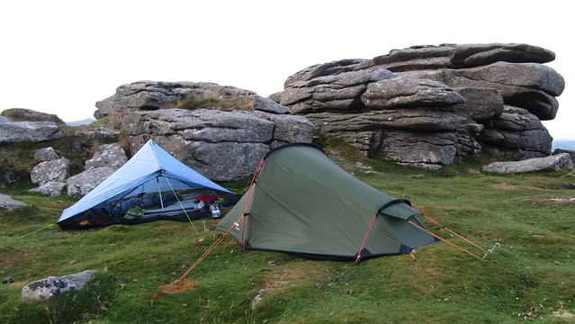 Z-Packs Hexamid Solo and a Vango Banshee 200