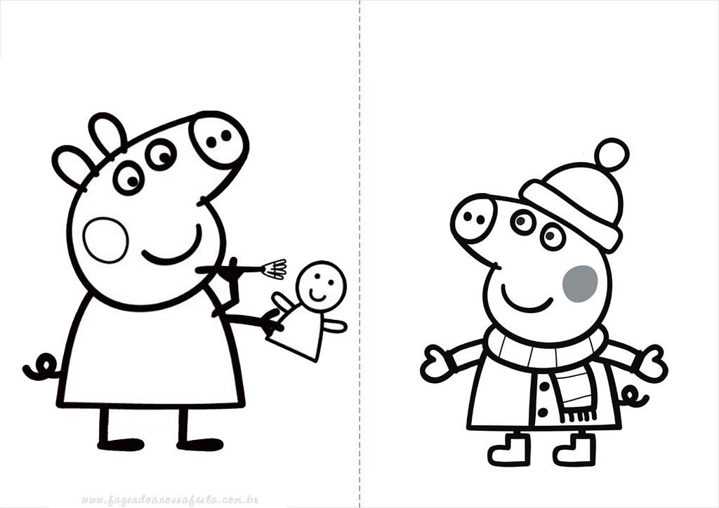Desenhos Do Peppa Pig Para Colorir Pintar Imprimir Desenhos Peppa