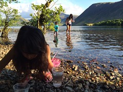 Fishing for minnows at Crummock