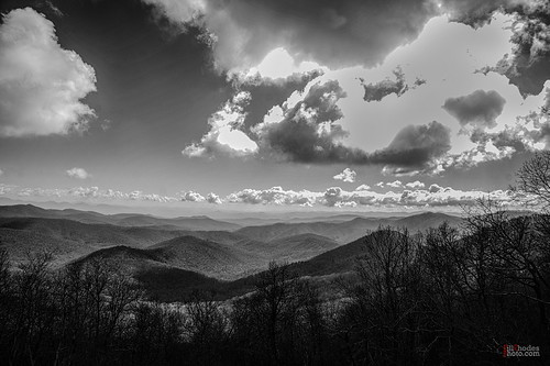billrhodes asheville nc blackandwhite monochrome landscape mountains clouds sky nps blueridgeparkway