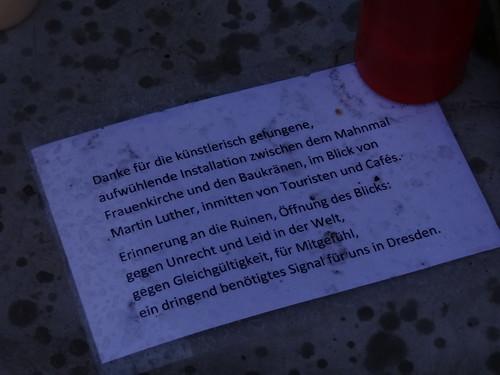 Dresden für mehr Frieden und Freundschaft, statt Haß, Zank und Streit
