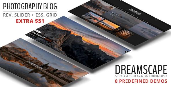 Dreamscape Photography WordPress Theme free download