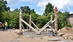 Construyen la caseta para la estación de bombeo en El Vergel