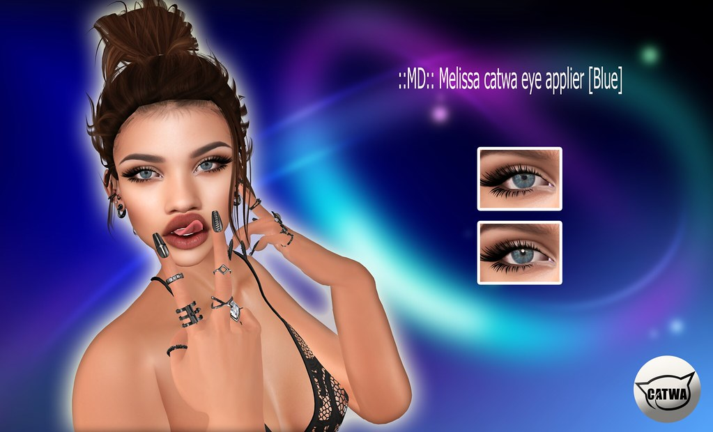 ::MD:: Melissa catwa eye applier [Blue] - SecondLifeHub.com