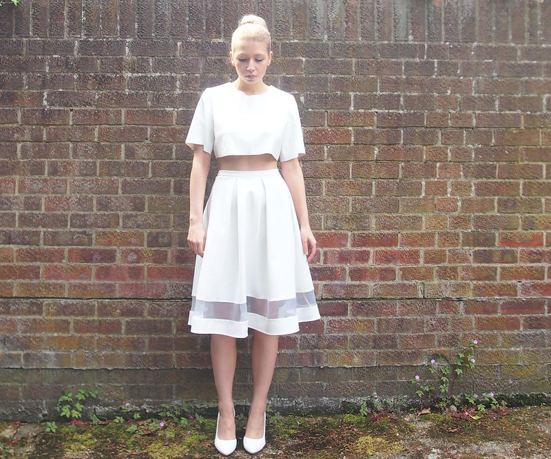 Sam Muses: All White Now: Matalan Mesh Panel Midi   Nicole x ...