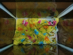 Sometimes I Take Pictures of Blossoming Flowers - Old leaky Fish Tank, Used and Shredded Serviette - Upcycling an Easter Serviette ~ Manchmal mache ich Blümchenfotos