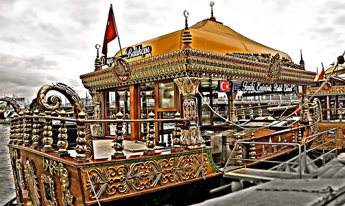 Bosphorus floating restaurants