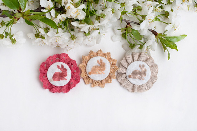 brooches with bunnies