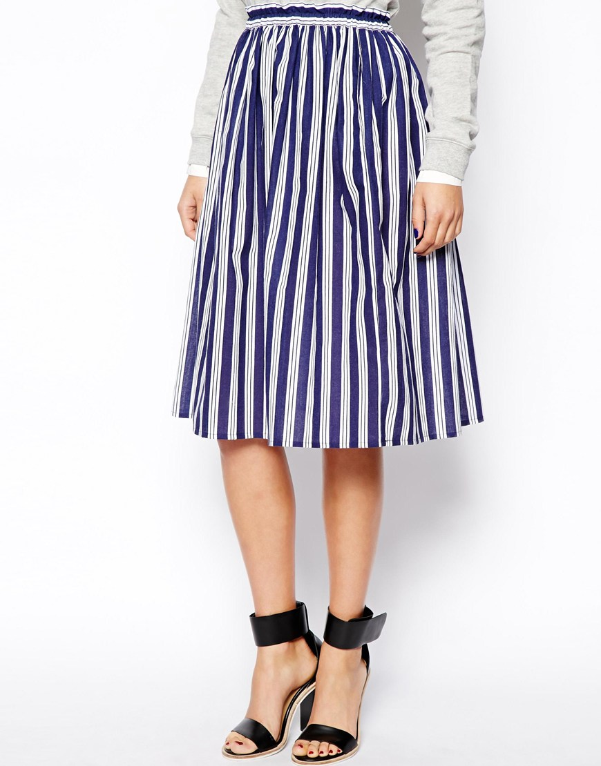 asos stripe skirt