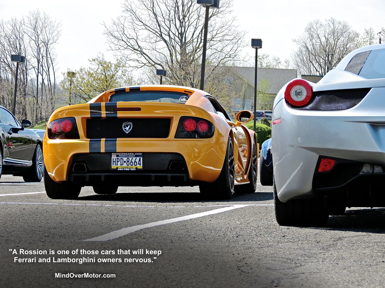Yellow Rossion Q1 supercar