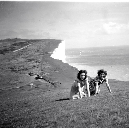 Ladies at Beachy Head 40s