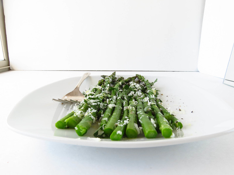 Asparagus with Lemon, Manchego