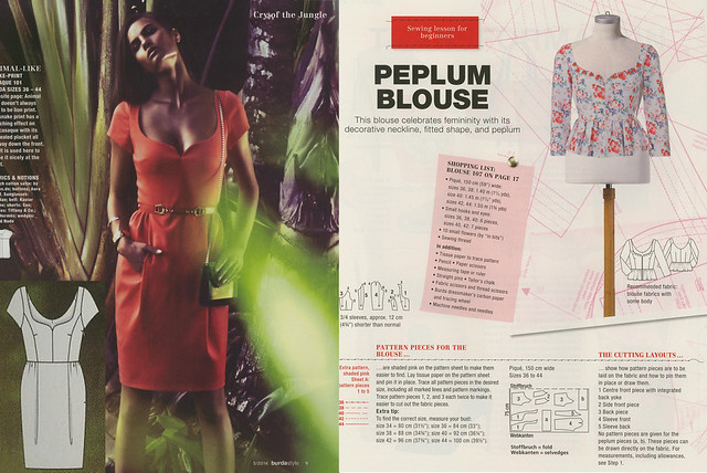 Burda May 2014 - Peplum Blouse
