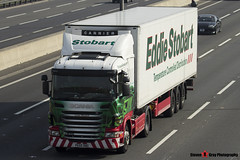 Scania G400 4x2 Tractor with 3 Axle Refrigerated Trailer - PE60 BBO - Louise Elizabeth - Eddie Stobart - M1 J10 Luton - Steven Gray - IMG_5742