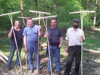 hay rake making