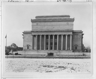 Photograph of the 7th Street Side of the National Archives Building, 12/25/1935