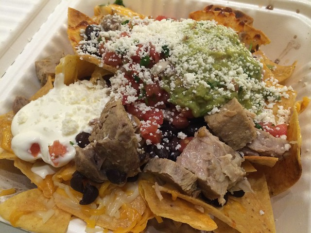 Grilled pork nachos - Andale Mexican Restaurant