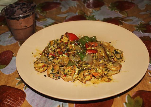 Sicilian garlic prawns