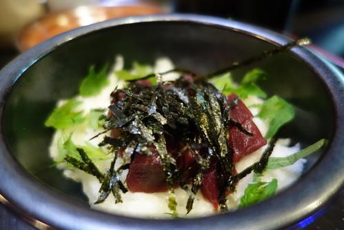Maguro Yamakake at Katsuya. Tuna with grated mountain yam.