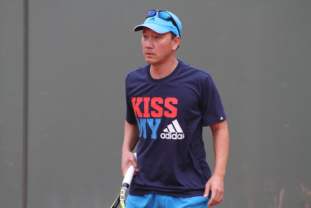 Michael Chang  Around the grounds at Roland Garros - day one: Venus, Serena, Berdych, Ferrer, Nadal... 14105666889 ff4c0356c0 z