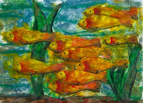 Week 19 Fish II, unmounted