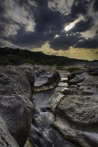 sun water rock river landscape waterfall texas rays hdr pedernales pedernalesriver texashillcountry pedernalesfallsstatepark