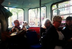 On the tram