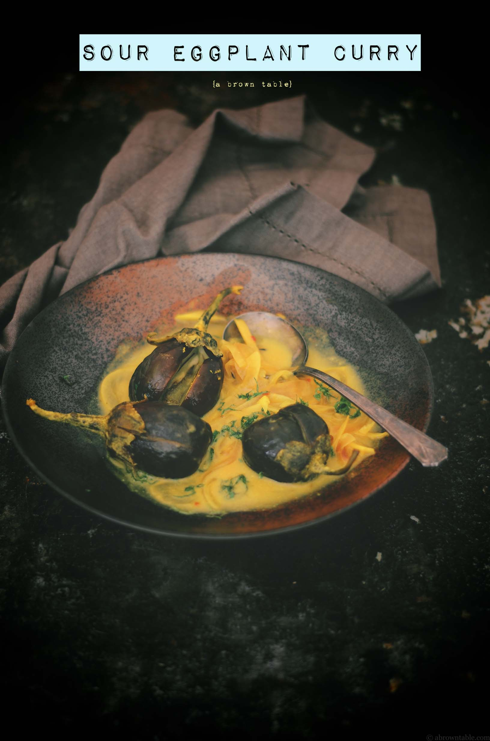 sour eggplant curry