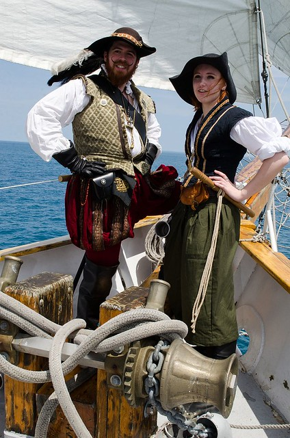 Captain Frobisher and Anne-Drew, his ship's boy