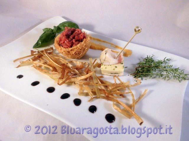 09-tartare con tartufi e taleggio marinato