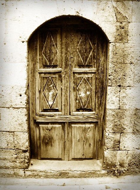 Old House Door in Aleppo, Syria