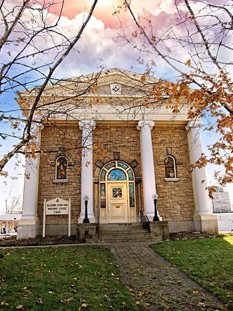 East Aurora Ny ~ Masonic Lodge ~ Blazing Star Lodge #694 ~ Landmark