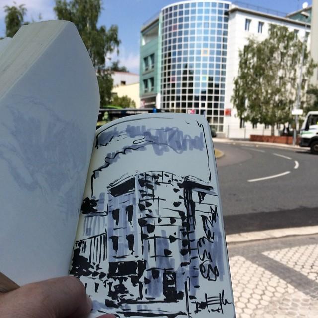 #elkar #urbansketch #pentel #tombow #donostia