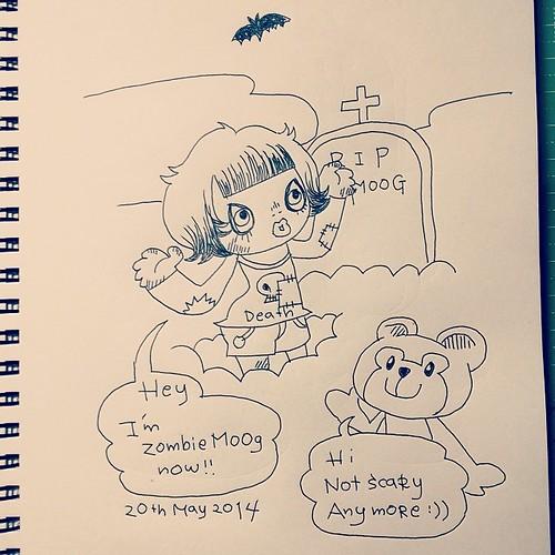 , Scary???  #tokyo #japan #home #me #duffy #disney #teddybear #kuma #video #story #draw #drawing #sketch #illust #illustration #doodle #graffiti #art #artwork #popart #manga #comic #cartoon #anime #instaart #instadraw #絵 #イラスト #いたずら描き, My cartoon Blog, My cartoon Blog