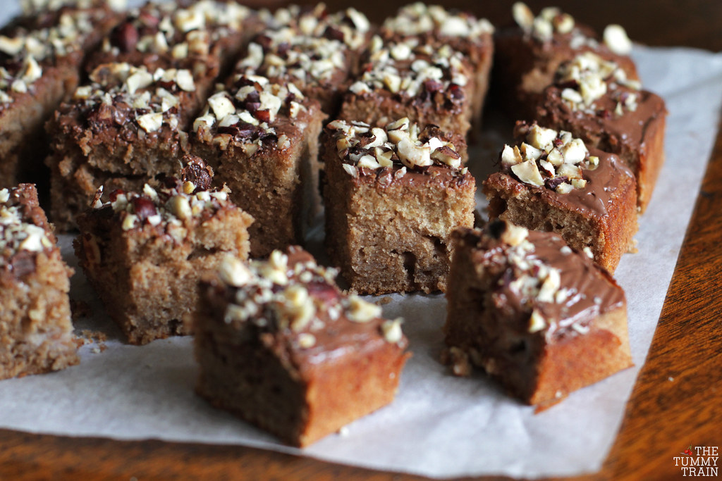 14229342044 8a4923a836 b - Banana Nutella Squares born out of excitement