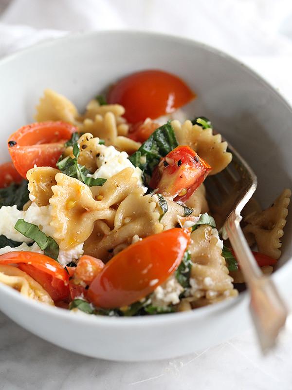 Fresh Tomato & Ricotta Whole Wheat Pasta   foodiecrush.com
