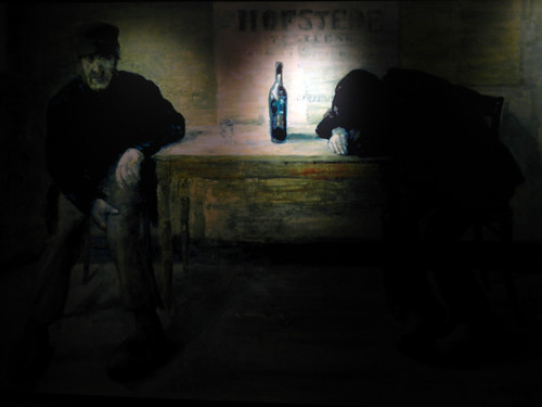 the Gin Museum painting in Hasselt, Belgium