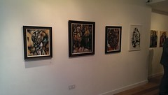 Aleksandar Basic The Londoner and The Interview solo exhibition Private View 03-04-2014