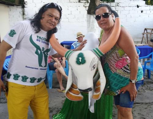 Idealizadores do boi Talismão do Tapajós. Foto: Jeso Carneiro