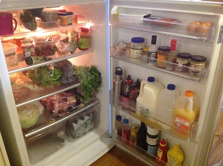 Our fridge - ready for the week!